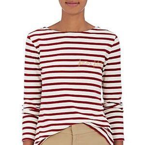 Maison La biche striped shirt red/white brand new!